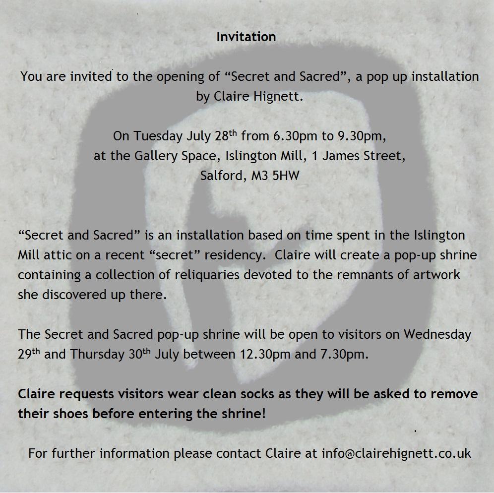 Secret & Sacred blog invite